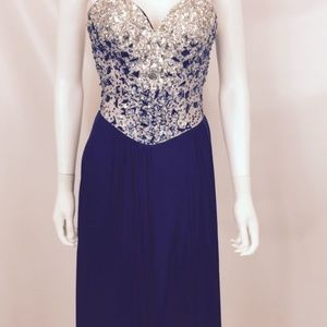 Terani Couture Navy Glamour By Women's Embellished